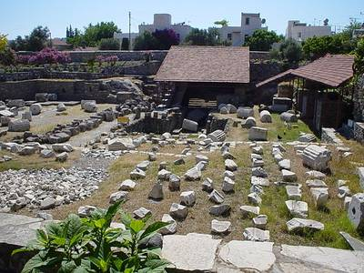 File:Ruins of the Mausoleum at Halicarnassus, one of the Seven Wonders of the Ancient World.jpg
